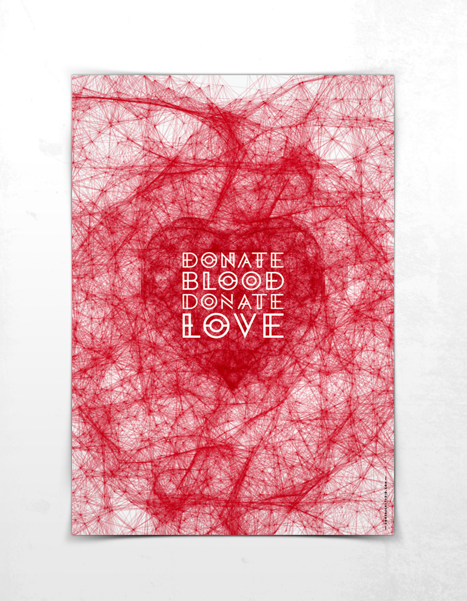 Blood Donation Poster by the @comebackstudio