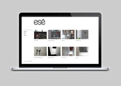 esé studio logo and website by @comebackstudio
