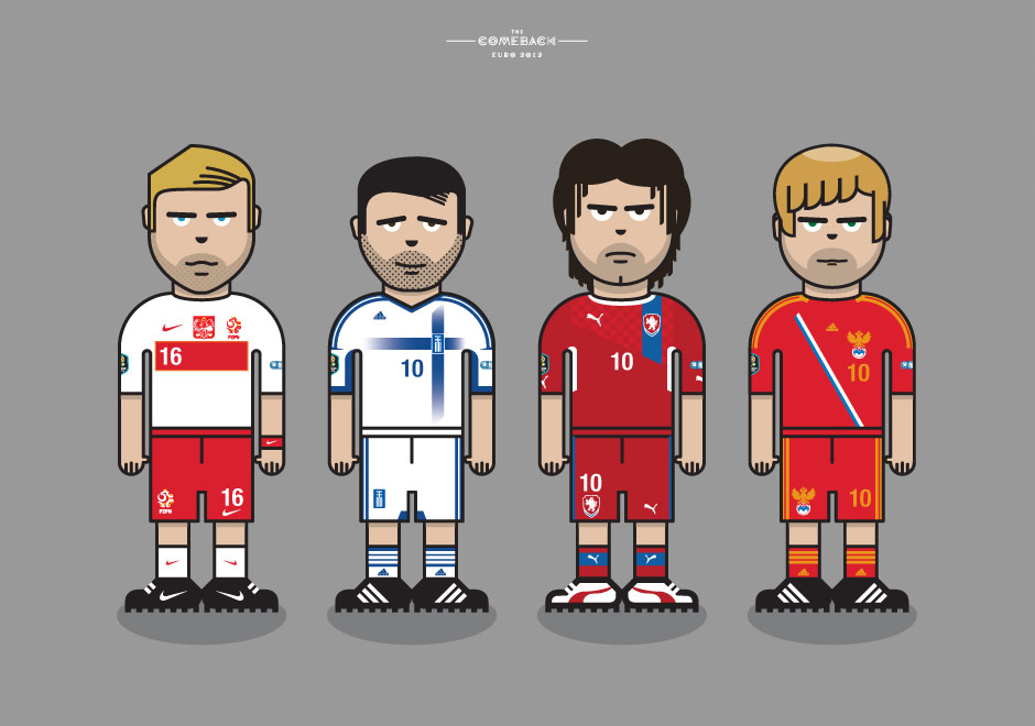 Group A_euro 2012 characters by @comebackstudio