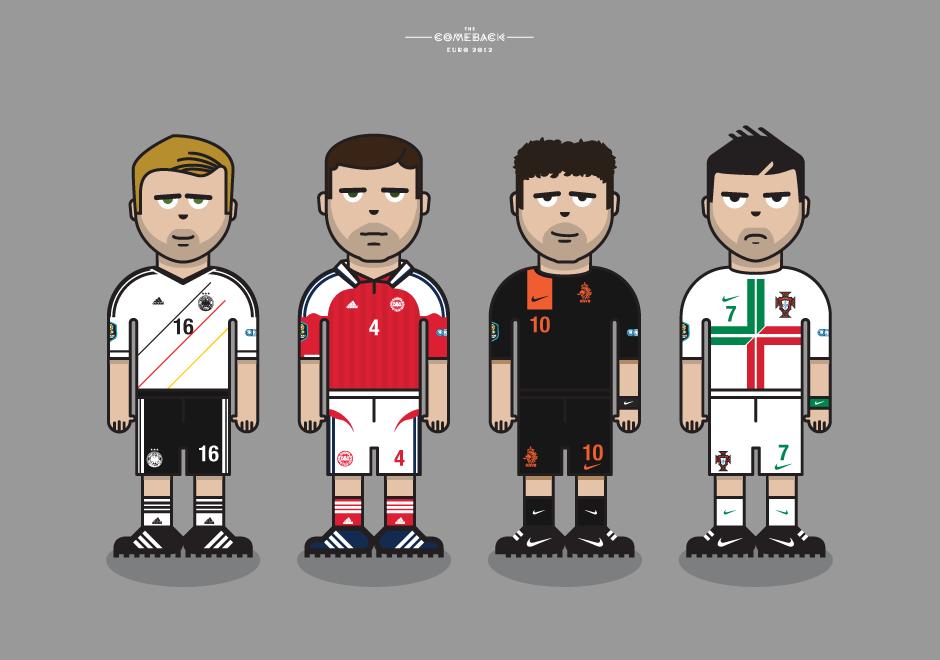 Group_B_euro 2012 characters by @comebackstudio