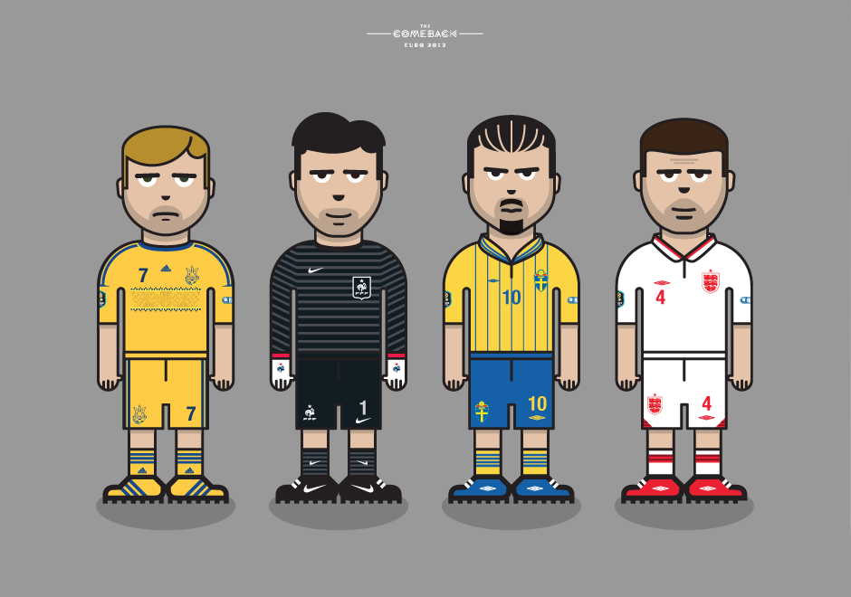 Group_D_euro 2012 characters by @comebackstudio