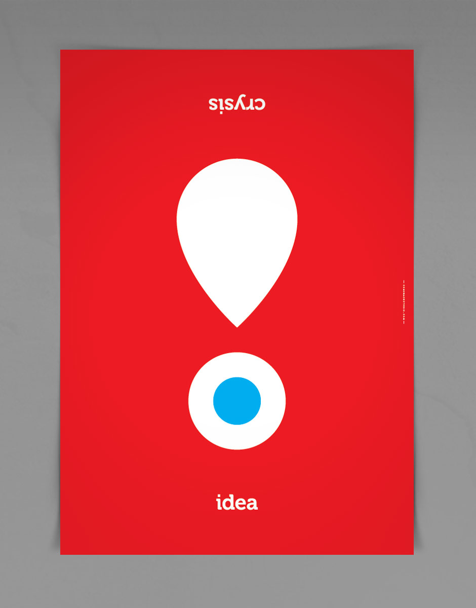 Idea Poster for Crisis is a greek word by @comebackstudio