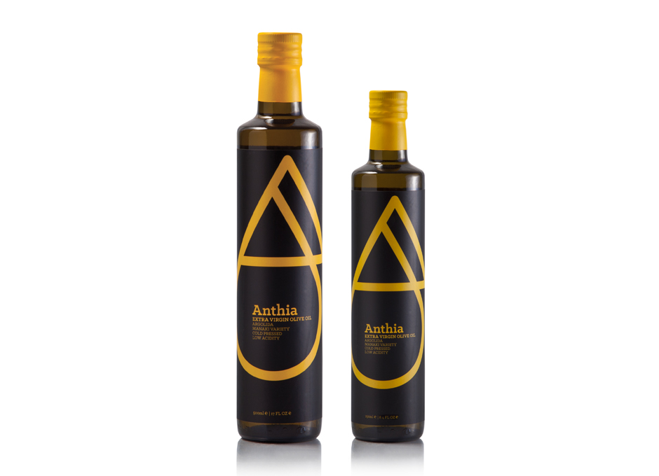 Anthia Manaki extra virgin olive oil packaging