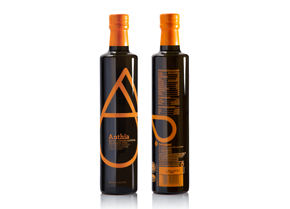 Anthia P.D.O. extra virgin olive oil packaging
