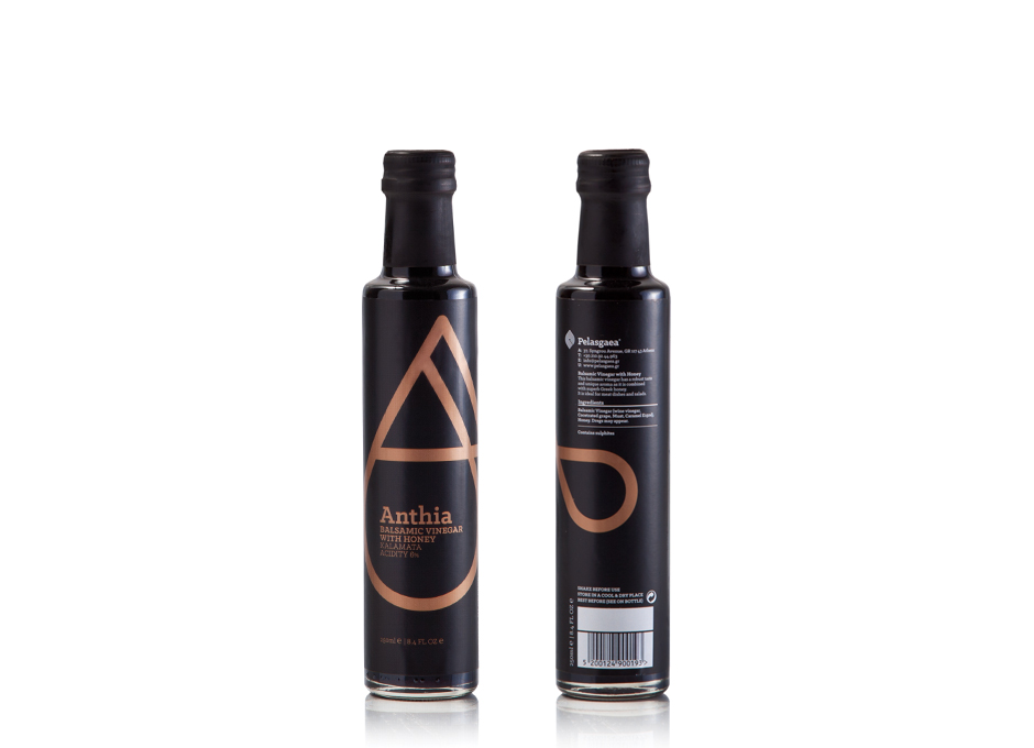 Anthia Balsamic Vinegar with honey packaging
