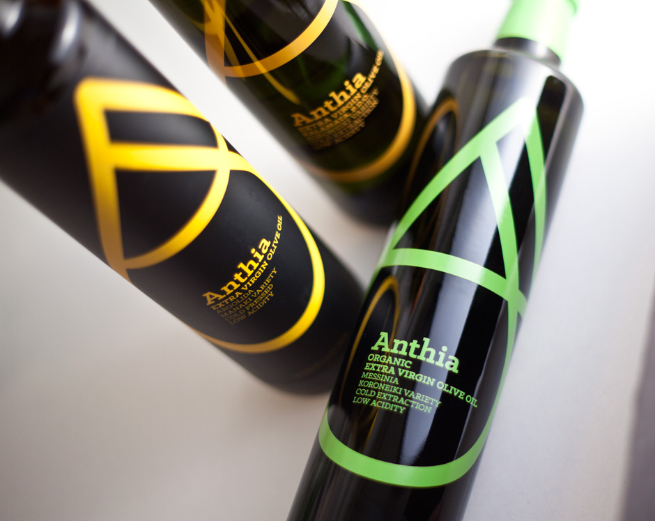 Anthia extra virgin olive oil packaging