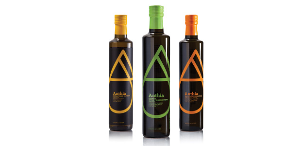 Anthia extra virgin olive oil packaging