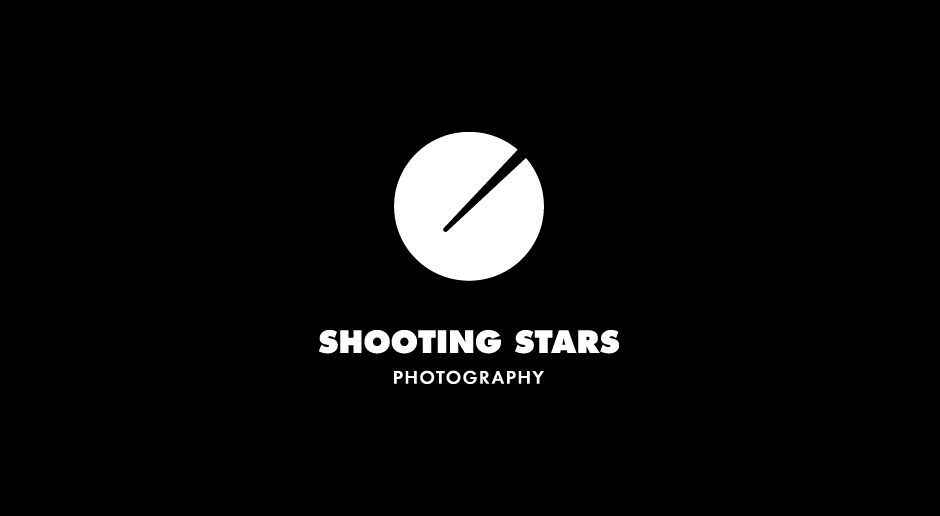 logo for shooting stars photography by the @comeback studio