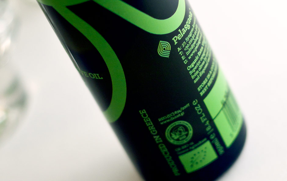 PELASGAEA logo on bottle by @comebackstudio