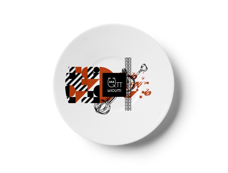 QPi restaurant plates by @comebackstudio