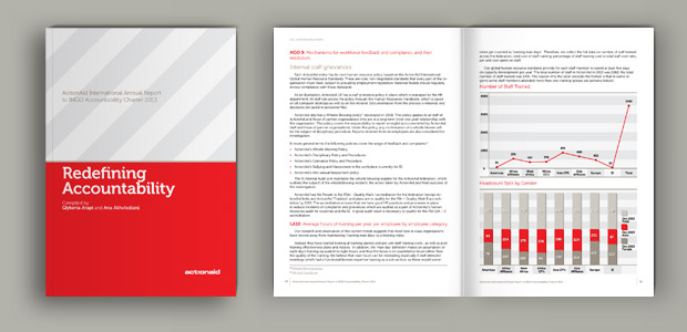 Annual Report 2013 for ActionAid international accountability section , by @comebackstudio