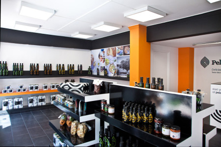 Pelasgaea Deli interior design and branding by @comebackstudio