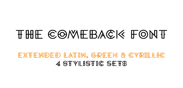 The Comeback Font © Comeback Studio 2015