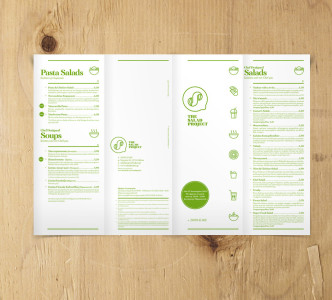 The Salad Project logo and identity by @comebackstudio