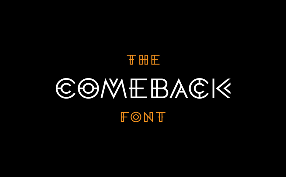 The Comeback Font by @comebackstudio