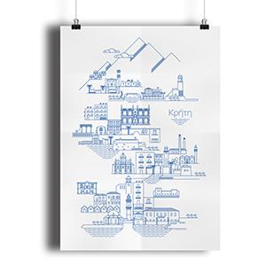 "100 Posters for Crete ""Beloved Crete"" by @comebackstudio"